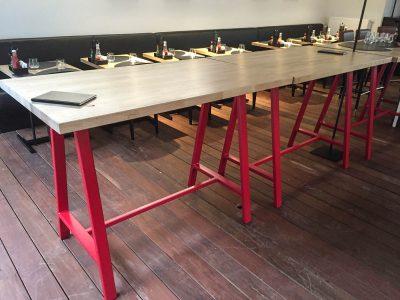 Hoge tafels constructie
